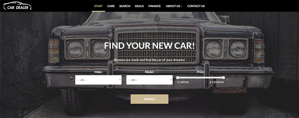 Featured Car Dealer Website Design