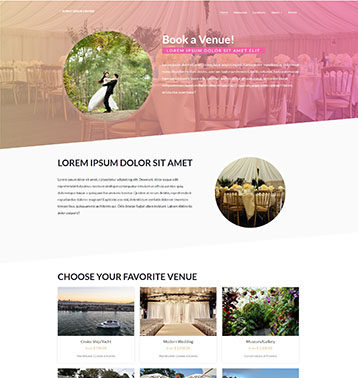 Featured Vacation Rental Website Design