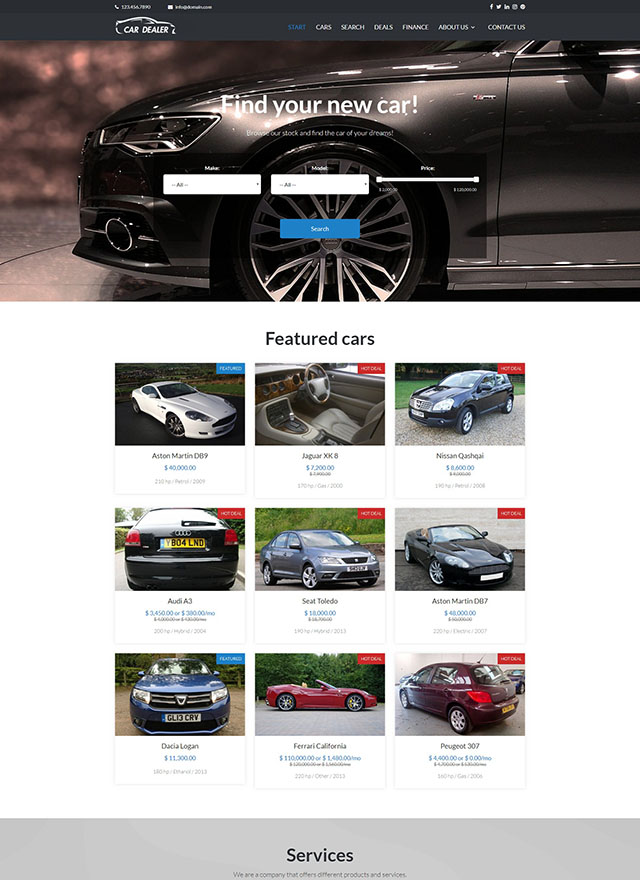 VEVS Car Dealer Website