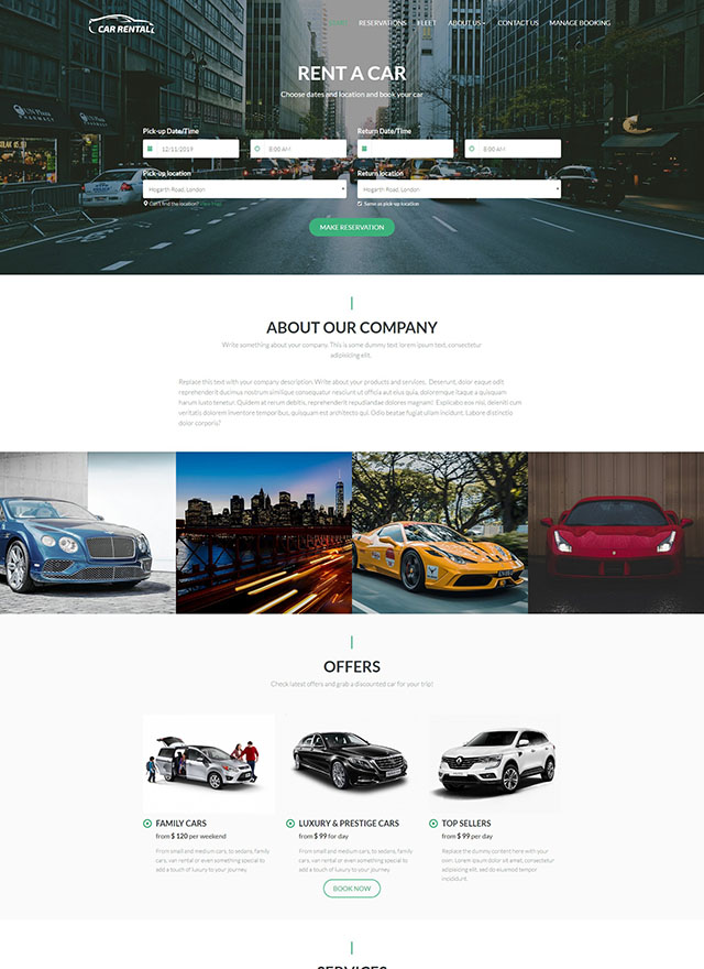 VEVS Car Rental Website