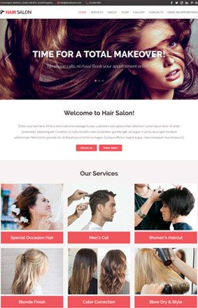 VEVS Hair and Beauty Salon Website