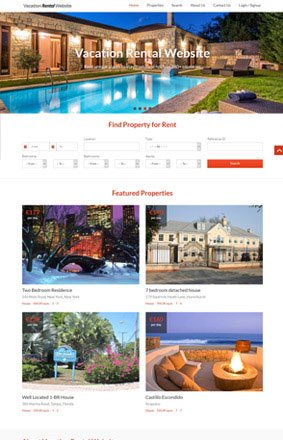 VEVS Vacation Rental Website