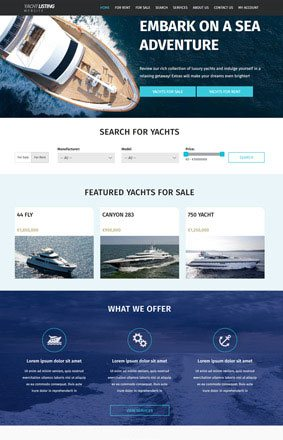 VEVS Yacht and Boat Website