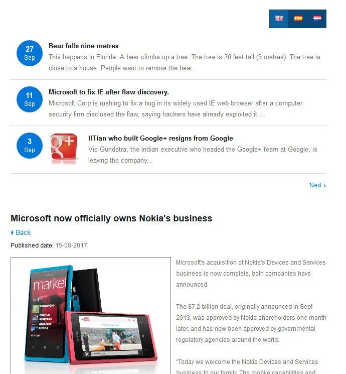 VEVS Extras: Web apps