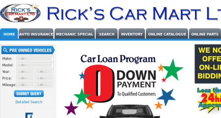 Rick's Car Mart LTD