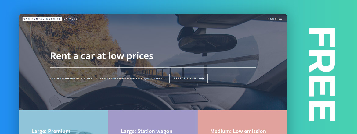 Free car rental website templates
