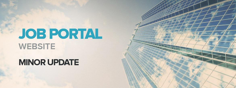 Minor Update: Job Portal Website v1.1