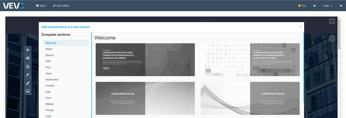 New Release Of VEVS CMS!