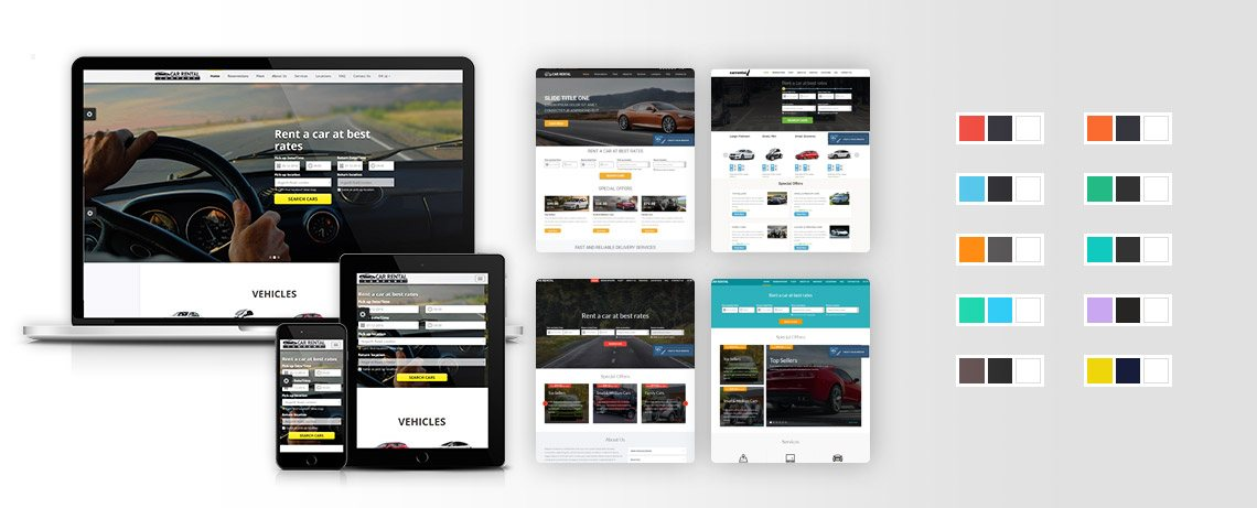 Car Rental Website - Templates & Colors