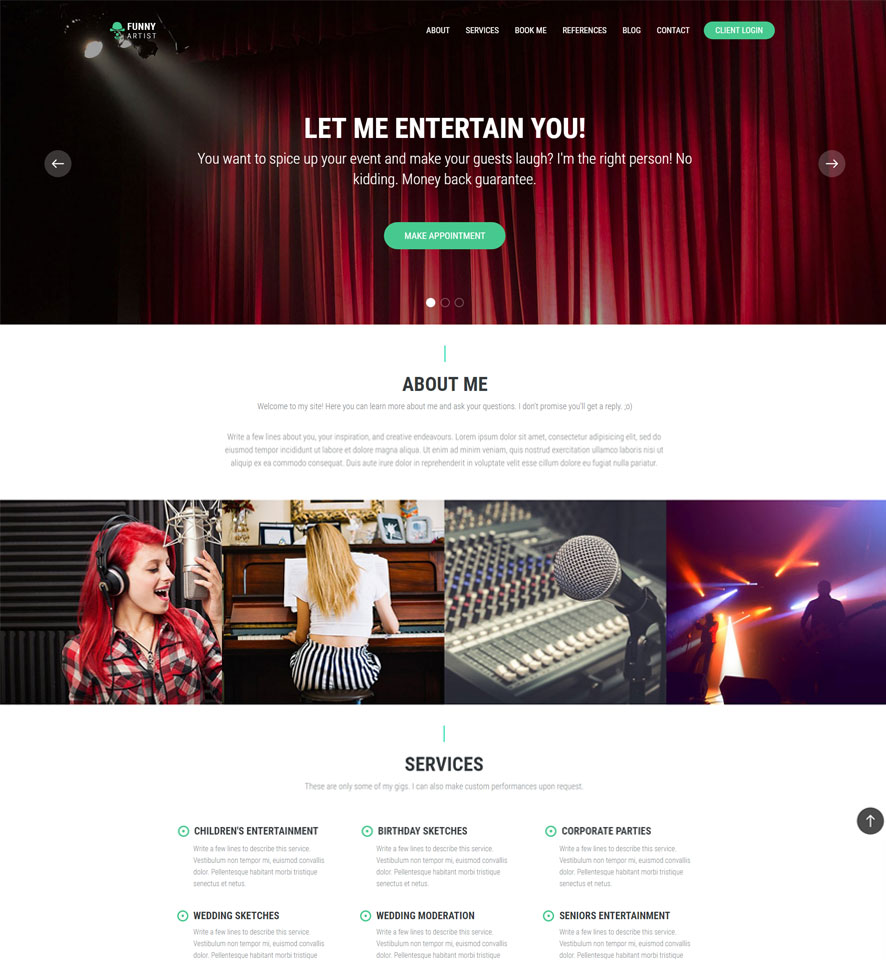 Artist Website Design by VEVS 1