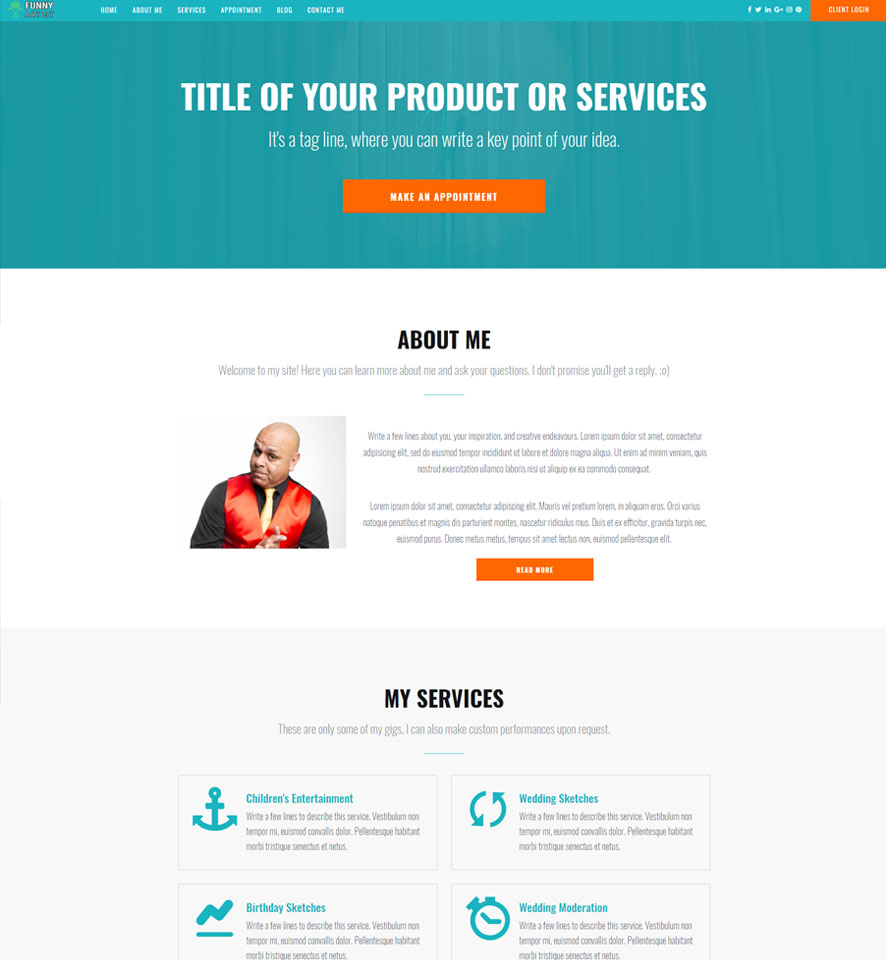 Entertainer Website Design by VEVS 3