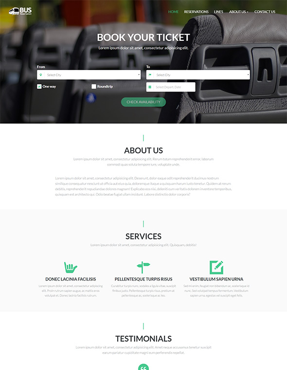 Bus Website Template #1