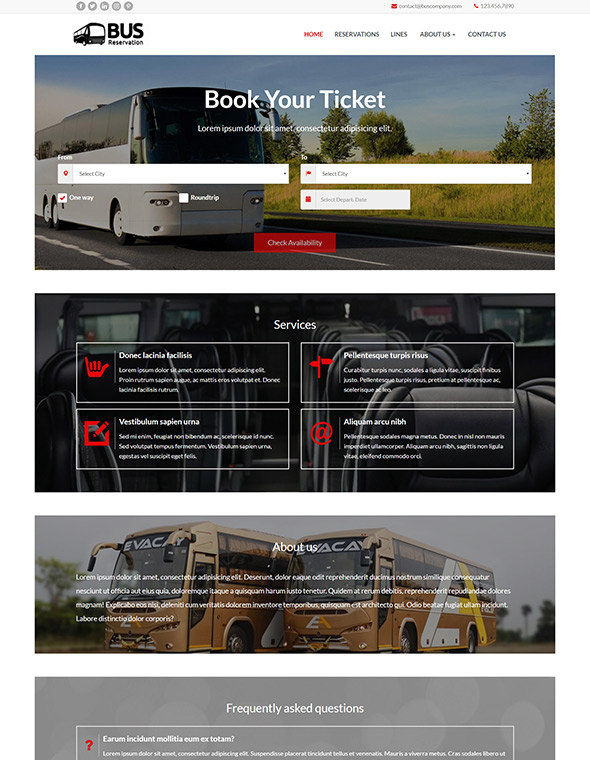 Bus Website Template #10