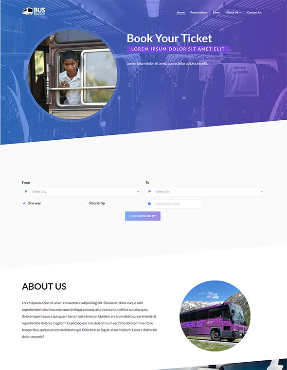 Bus Website Template #2