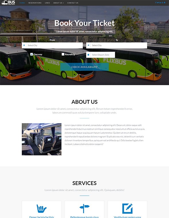 Bus Website Template #3