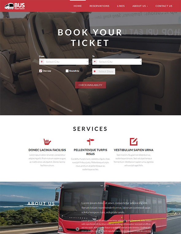 Bus Website Template #4