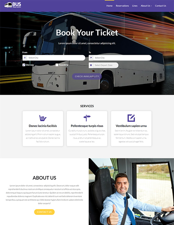 Bus Website Template #5