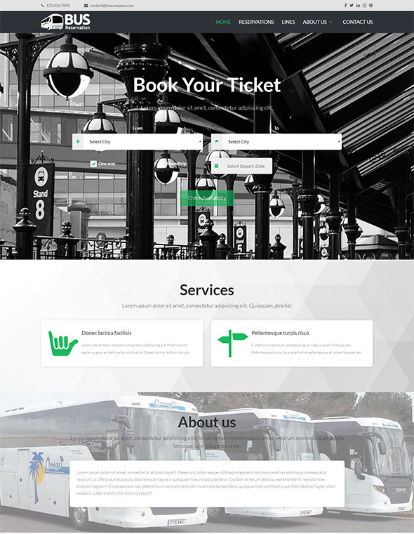 Bus Website Template #6