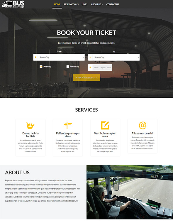 Bus Website Template #7
