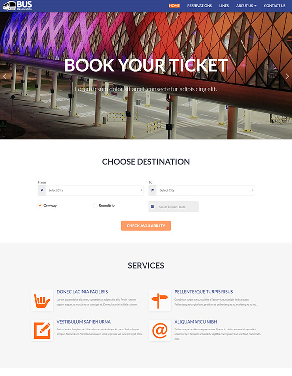Bus Website Template #8