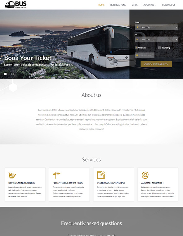 Bus Website Template #9