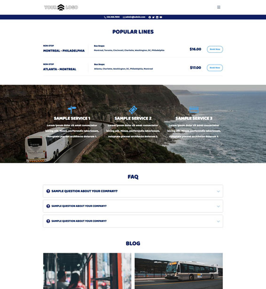 Bus Website Design by VEVS 1