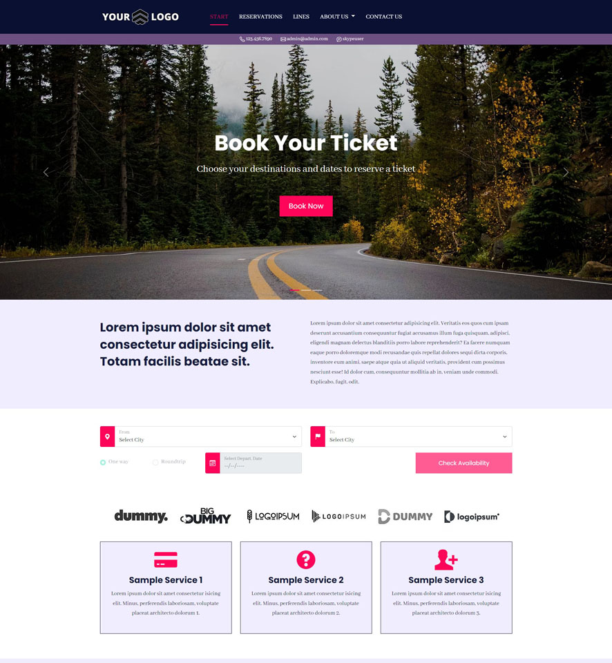Bus Website Design by VEVS 2