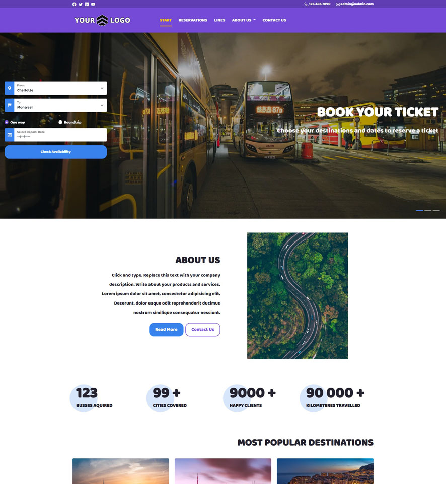 Bus Website Design by VEVS 3