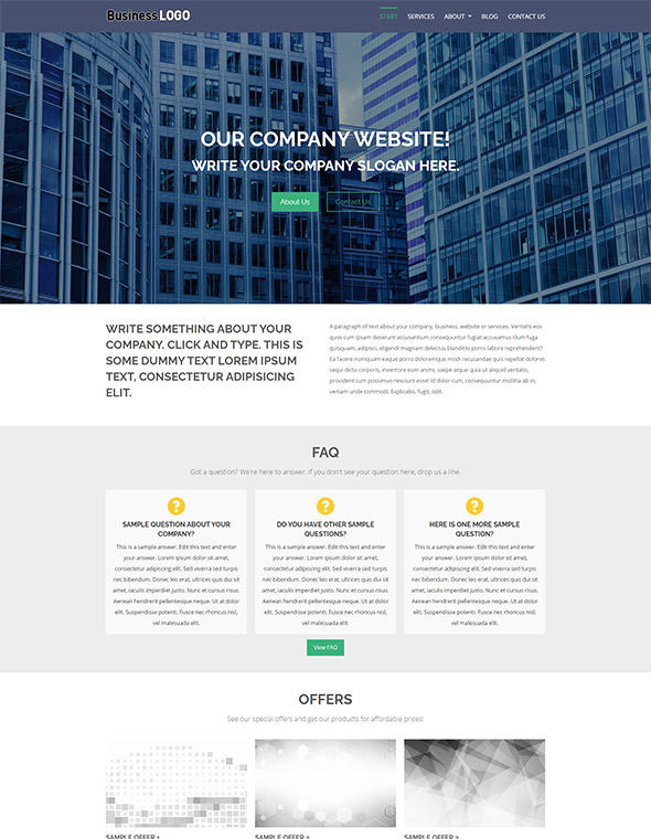 Standard Website Template #1