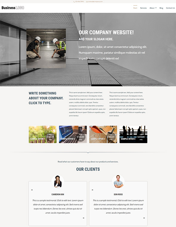 Standard Website Template #3