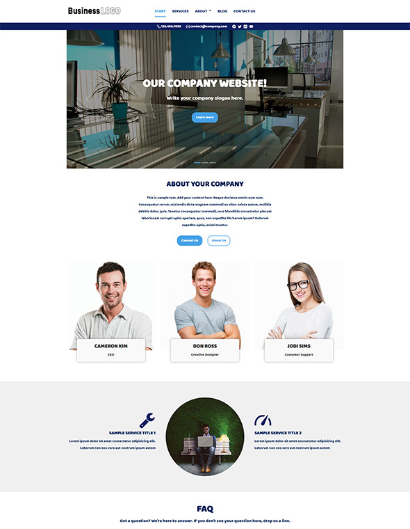 Standard Website Template #4