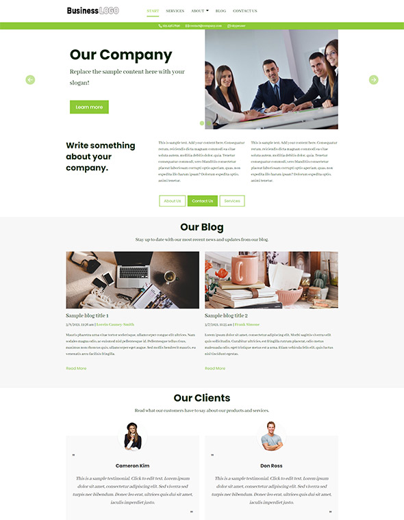 Standard Website Template #5