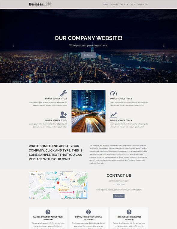 Standard Website Template #6