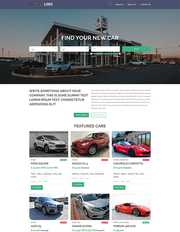 Car Dealer Website Template 1