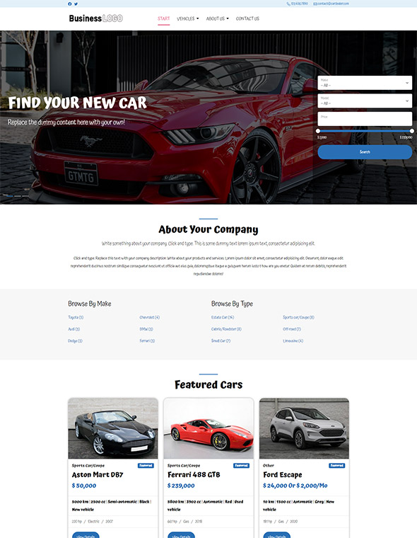 Car Dealer Website Template 2