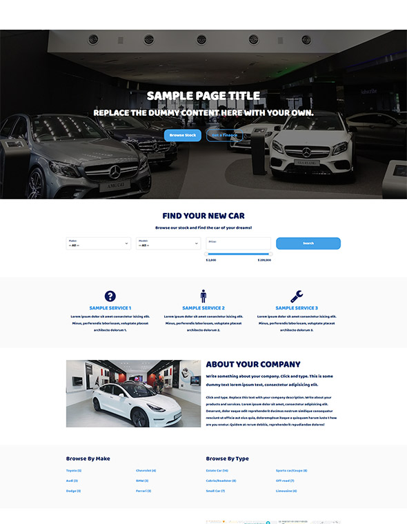 Car Dealer Website Template #4