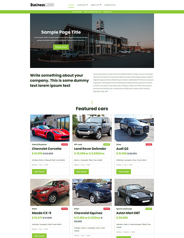Car Dealer Website Template 5