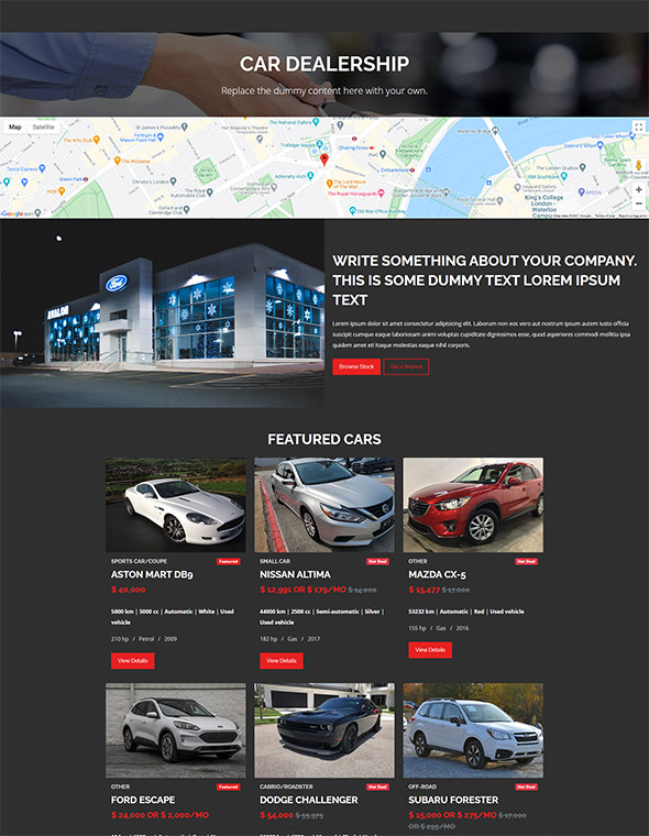 Car Dealer Website Template #6