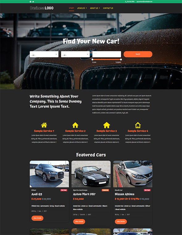 Car Dealer Website Template #7