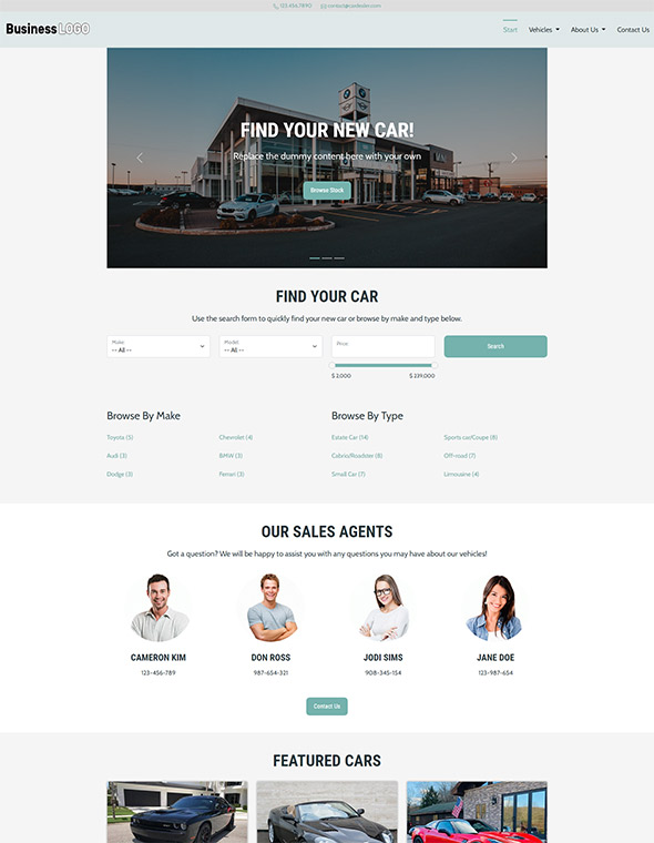 Car Dealer Website Template #8