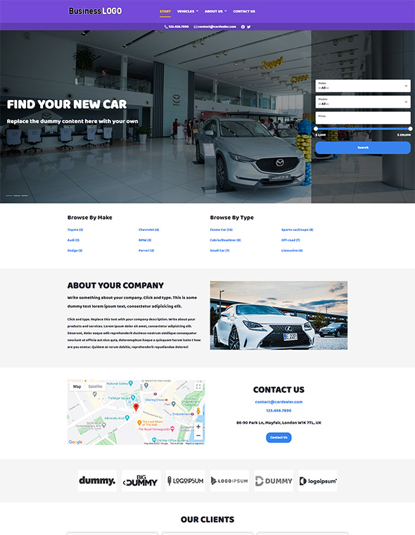 Car Dealer Website Template #9