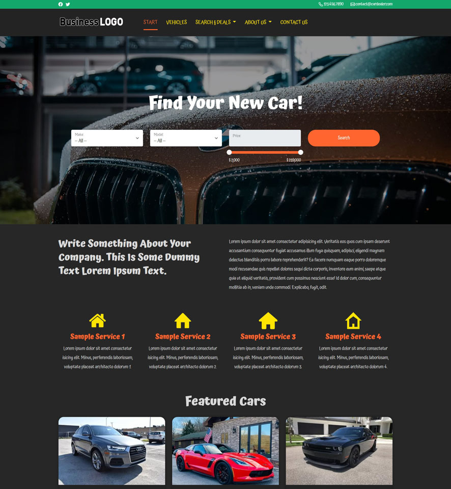 Car Dealer Website Design 2