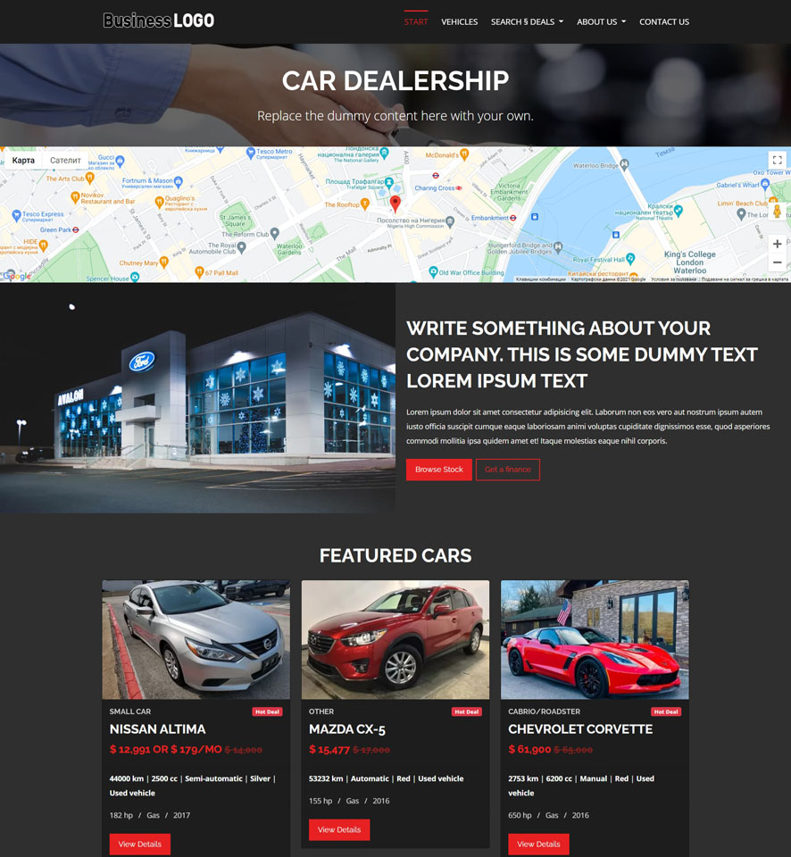 Car Dealer Website Design 1