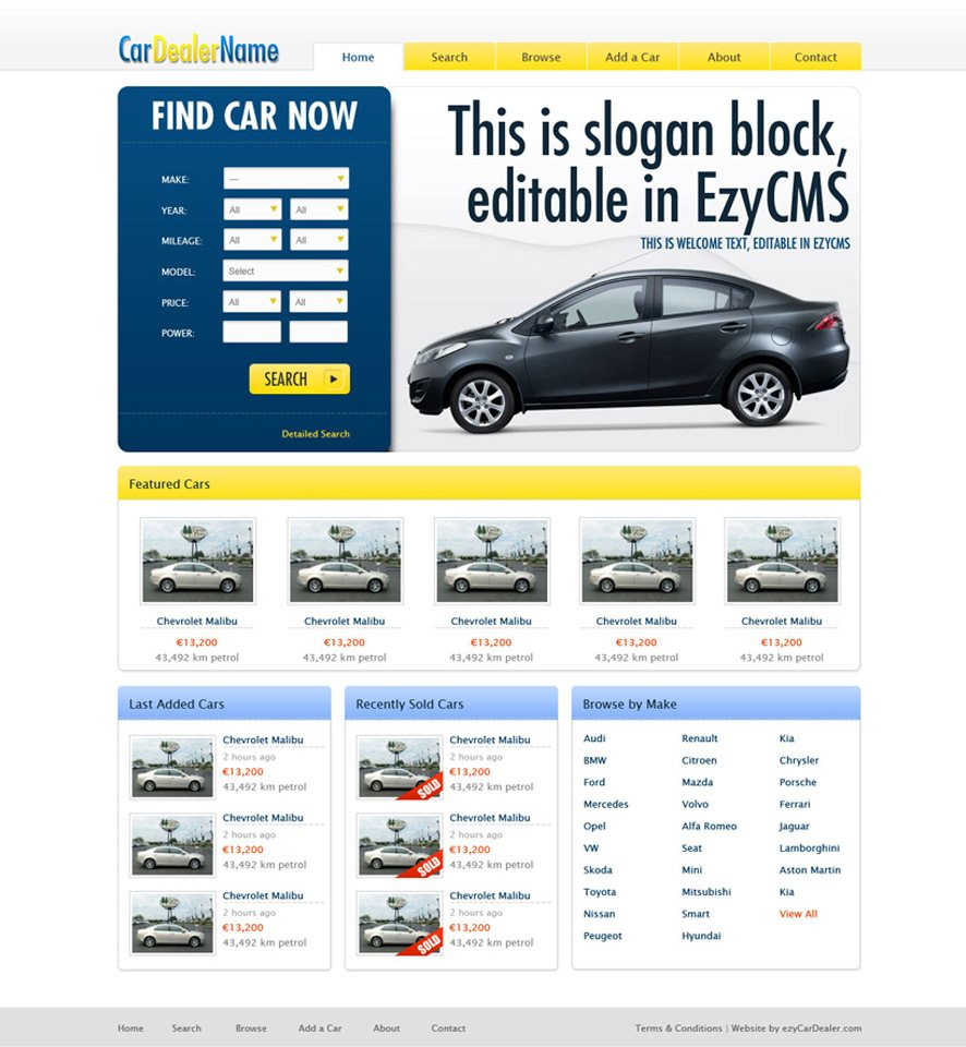 Car Dealer Website Custom Template #2