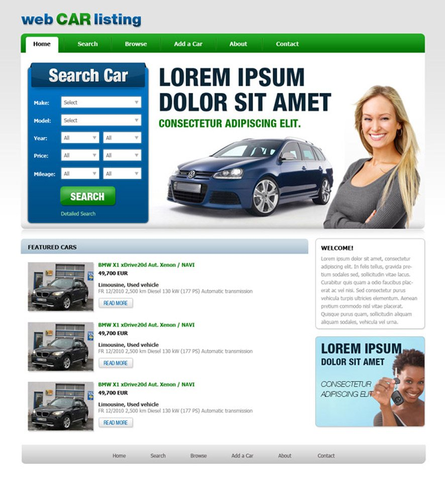 Car Dealer Website Custom Template #3
