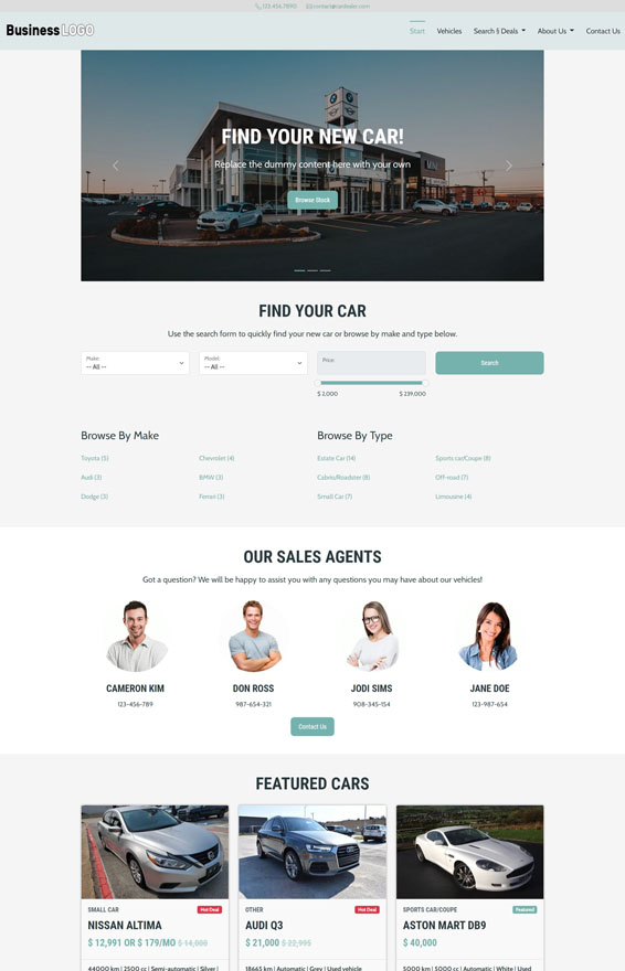 Car Dealer Website 2