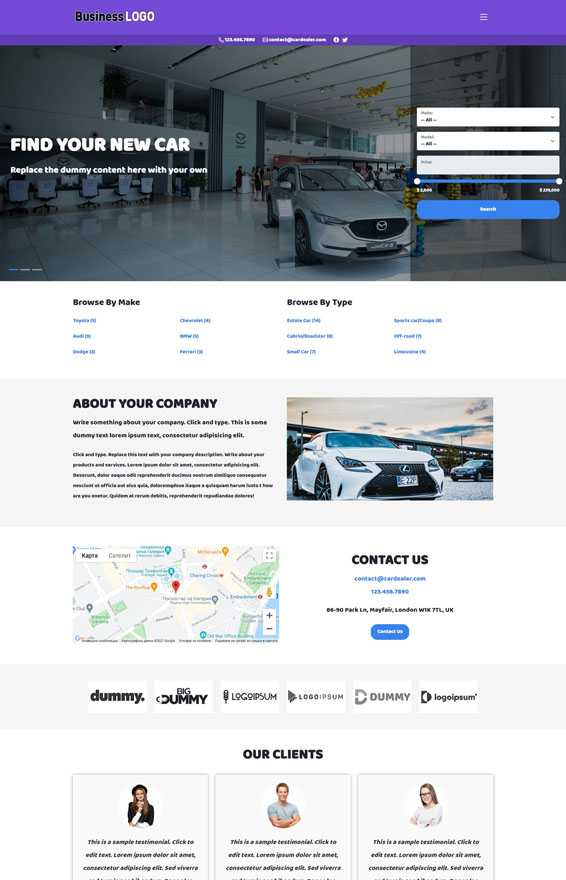 Car Dealer Website 3