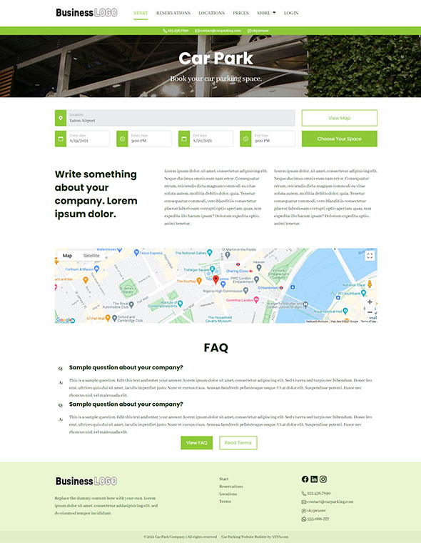 Car Parking Website Template #5