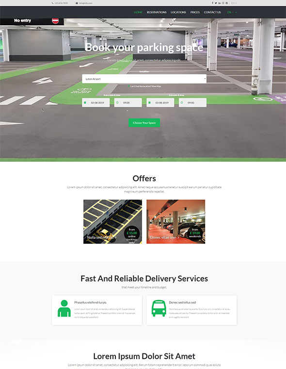 Car Parking Website Template #6