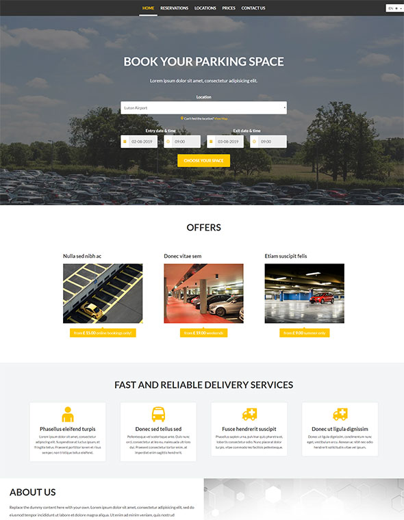 Car Parking Website Template #7